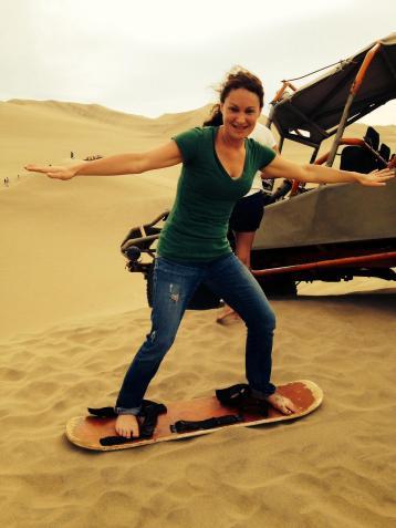 Sand boarding in Peru